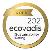 Certificado EcoVadis 2021 Gold Sustainability Rating